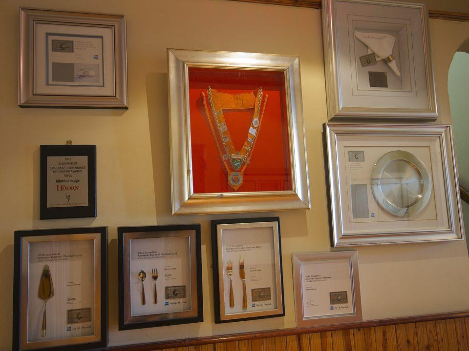 Mimosa Lodge Restaurant Awards
