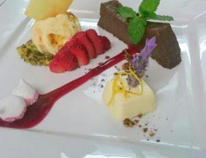 Chocolate Tart, Elderberry Pannacotta, Gooseberry Icecream recipes